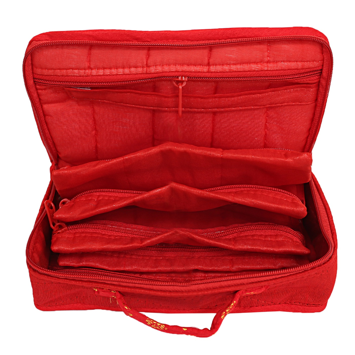 Kuber Industries Silk Jewellery Kit (Red) Set of 1 Pc