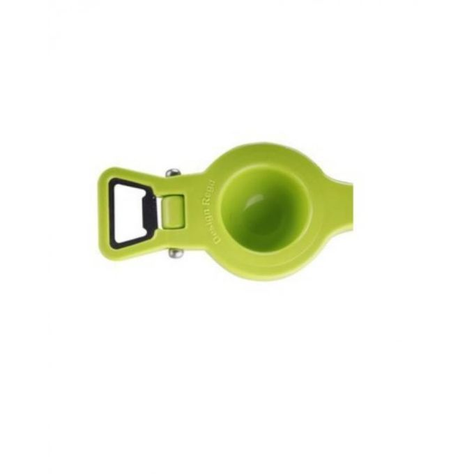 Kuber Industries™ Lemon Squeezer with Bottle Opener attached Premium Quality Unbreakable Plastic Body (2 in one) L01