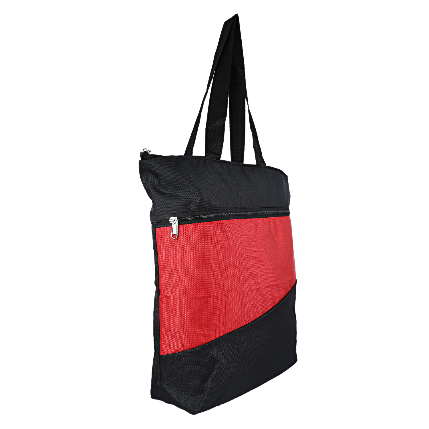 Kuber Industries Rexene 2 Piece Big & Small Size Shopping Bag (Red & Black)-CTKTC3789