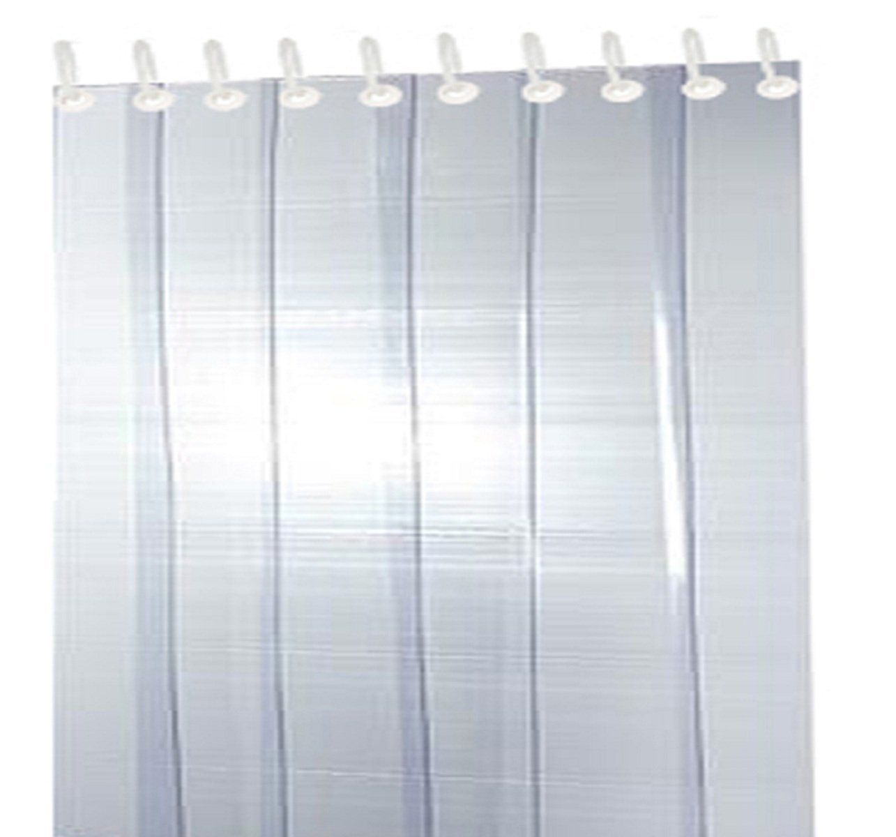 Kuber Industries™ 1 MM Thick PVC 6 Strips AC Curtain for Offices & Shop -9 Feet (Dimension-108*54 Inches) Code- Stripes010