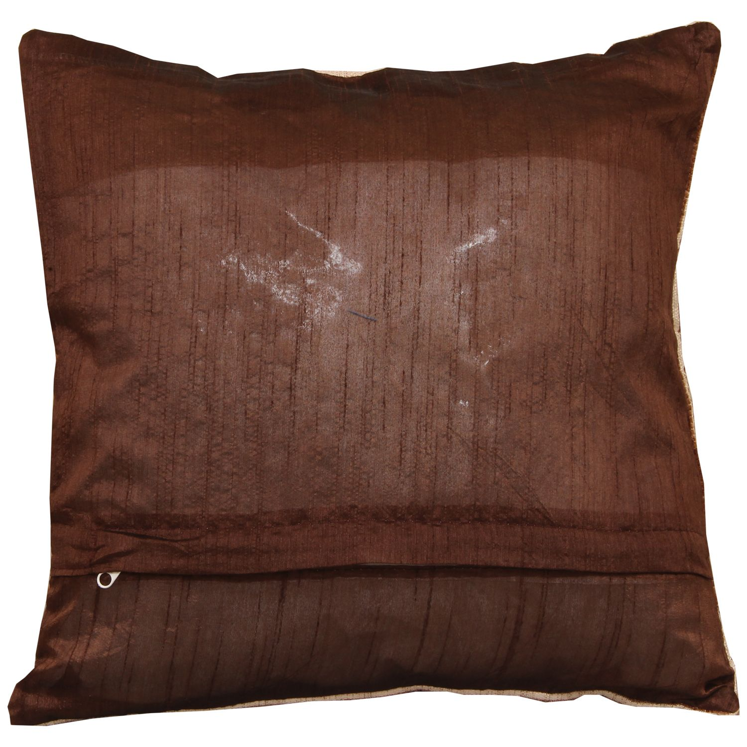 Kuber Industries Velvet 5 Pieces Cushion Cover (Brown)