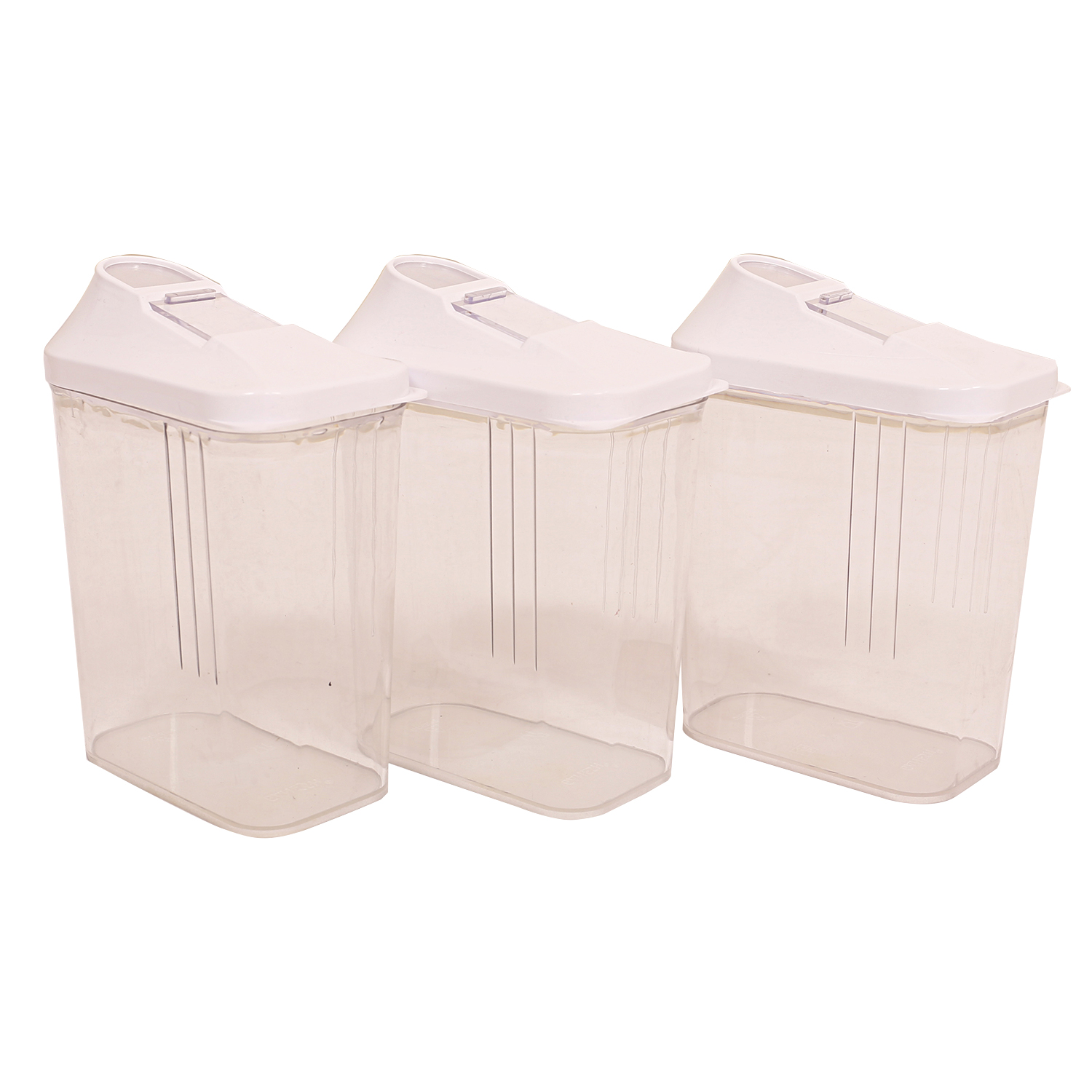 Kuber Industries Plastic Multipurpose Kitchen Container Set of 3 Pcs