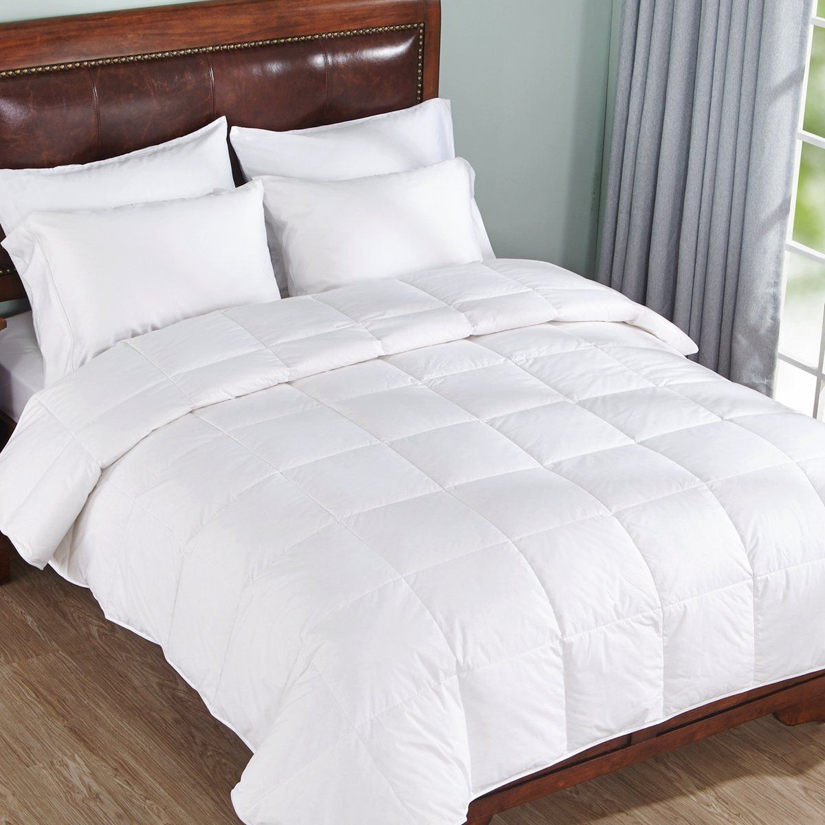 Kuber Industries Reversible Single Bed King Size Comforter/Duvet for Winters; Color - White, 230 x 150 Cm