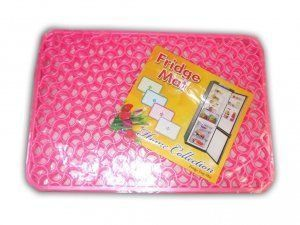 Kuber Industries Refrigerator Drawer Mat / Fridge Mat Set Of 6 Pcs (Pink)