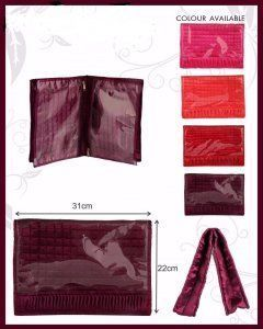 Kuber Industries Undergarments Kit, Lingerie Cover In Heavy Quilted Satin (Pink)