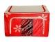 Saree Cover /Lehenga/Woolens Storage Box with Steel Frames - Red Flower