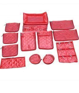 Quilted Satin Locker Jewellery Kit 12 pouch