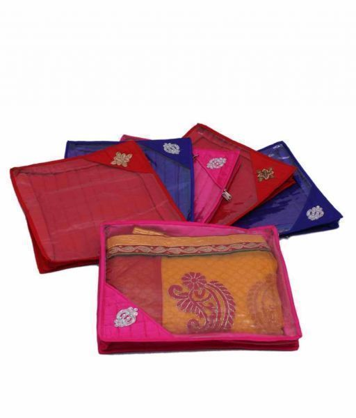 Saree Cover Quilted Set Of 6 Pcs