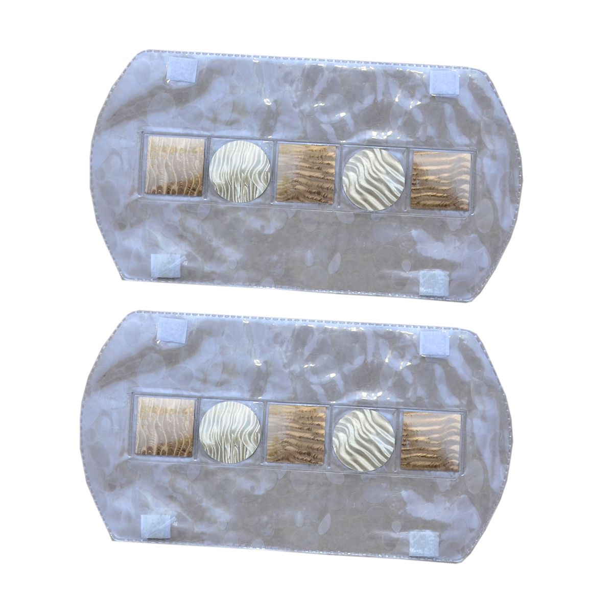 Kuber Industries™ Multi-Purpose Handle Cover For Car/ Refrigerator/Oven (1 Pair) In 3D Transparent Laminated Patch Design