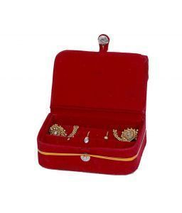 Earing box In Velvet Hard Board