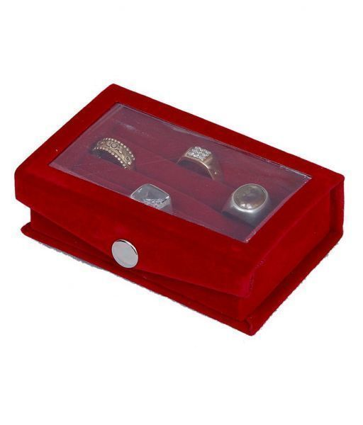 Ring box full velvet with transparent sheet