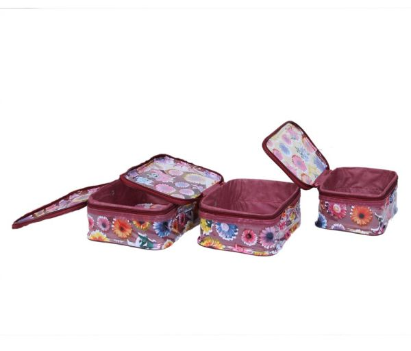 Make Up Kit 3 Pcs Set in Printed transparent