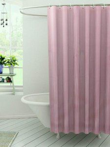 Kuber Industries™ Self Design PVC Premium Shower Curtain Set of 2 Pcs - 7 Feet -84*54 Inches (Pink) SHW07
