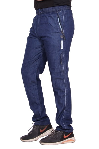 Kuber Industries Denim Pajama Lower Track pant for men (Blue)