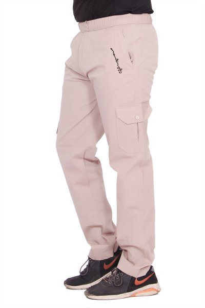 Kuber Industries Cotton Pajama Cargo Lower Track pant for men (Off White)