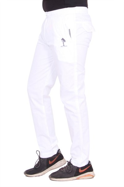 Kuber Industries Cotton Pajama Lower Track pant for men (White)