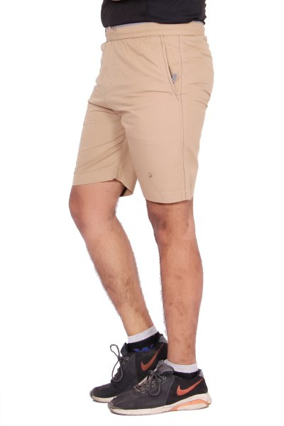 Kuber Industries Cotton Chinkara Bermuda shorts for men (Brown)