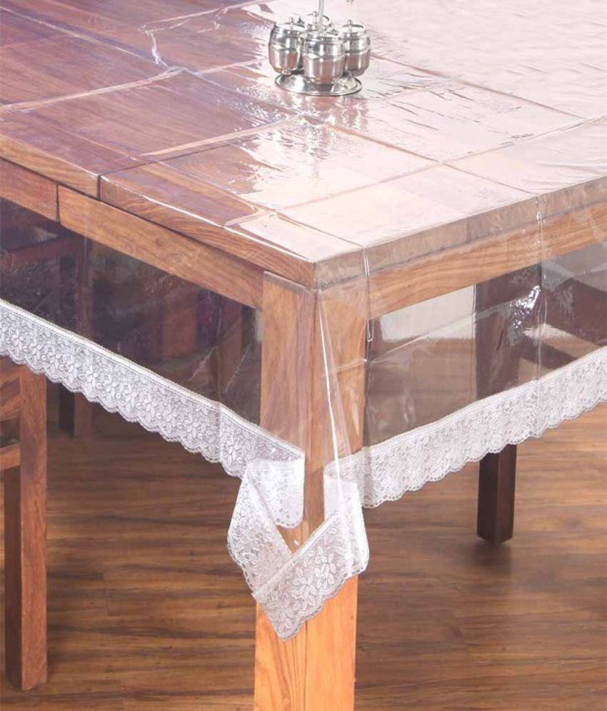 Dining table cover transparent seater