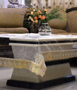 Dining Table Cover Transparent 6 Seater