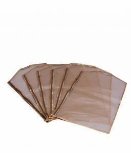 Sari Cover Heavy Plastic with Inside Net, 12 Pcs Set