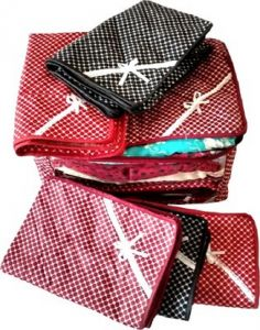 Polka Dots Saree Cover Set Of 6 Pcs