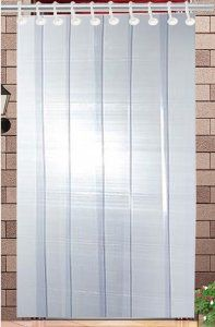 Kuber Industries™ 1 MM Thick PVC 6 Strips AC Curtain for Offices & Shop  -7 Feet (Dimension-84*54 Inches) Code- Stripes05