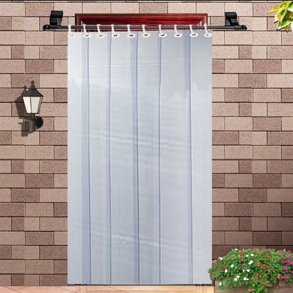 Kuber Industries™ 1 MM Thick PVC 6 Strips AC Curtain for Offices & Shop  -7 Feet (Dimension-84*54 Inches) Code- Stripes09