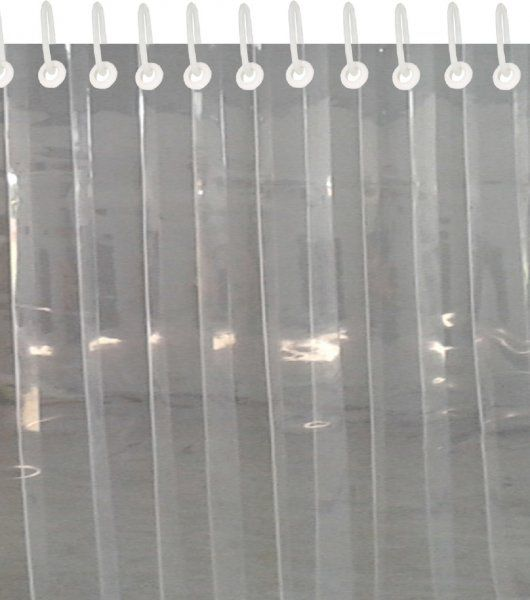Kuber Industries™ .50 MM Thick PVC 6 Strips AC Curtain for Offices & Shop  (Dimension-108*54 Inches) Code- Stripes12