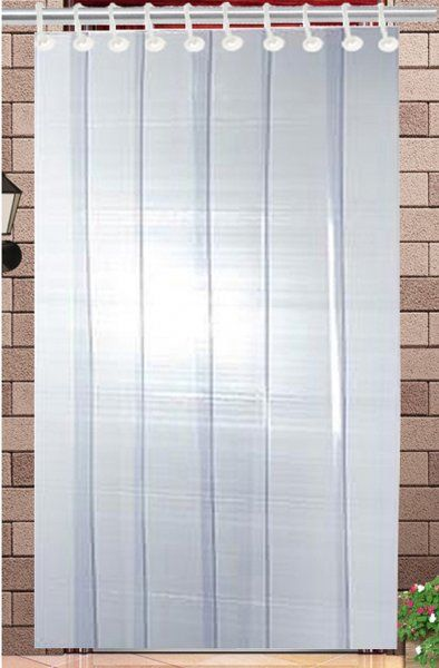Kuber Industries™ 1 MM Thick PVC 6 Strips AC Curtain for Offices & Shop  -9 Feet (Dimension-108*54 Inches) Code- Stripes15