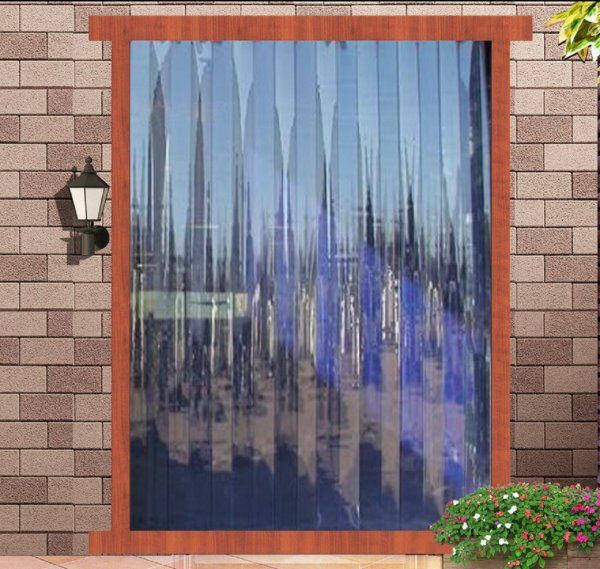 Kuber Industries™ 1 MM Thick PVC 6 Strips AC Curtain for Offices & Shop  -9 Feet (Dimension-108*54 Inches) Code- Stripes20