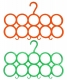 Kuber Industries 10-Circle Plastic 2 Pieces Ring Hanger for Scarf, Shawl, Tie, Belt, Closet Accessory Wardrobe Organizer (MultiColor) - CTKTC30748