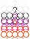 Kuber Industries 10-Circle Plastic 4 Pieces Ring Hanger for Scarf, Shawl, Tie, Belt, Closet Accessory Wardrobe Organizer (MultiColor) - CTKTC30759