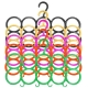 Kuber Industries 10-Circle Plastic 5 Pieces Ring Hanger for Scarf, Shawl, Tie, Belt, Closet Accessory Wardrobe Organizer (MultiColor) - CTKTC30763