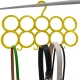 Kuber Industries 10-Circle Plastic Ring Hanger for Scarf, Shawl, Tie, Belt, Closet Accessory Wardrobe Organizer (MultiColor) - CTKTC30736