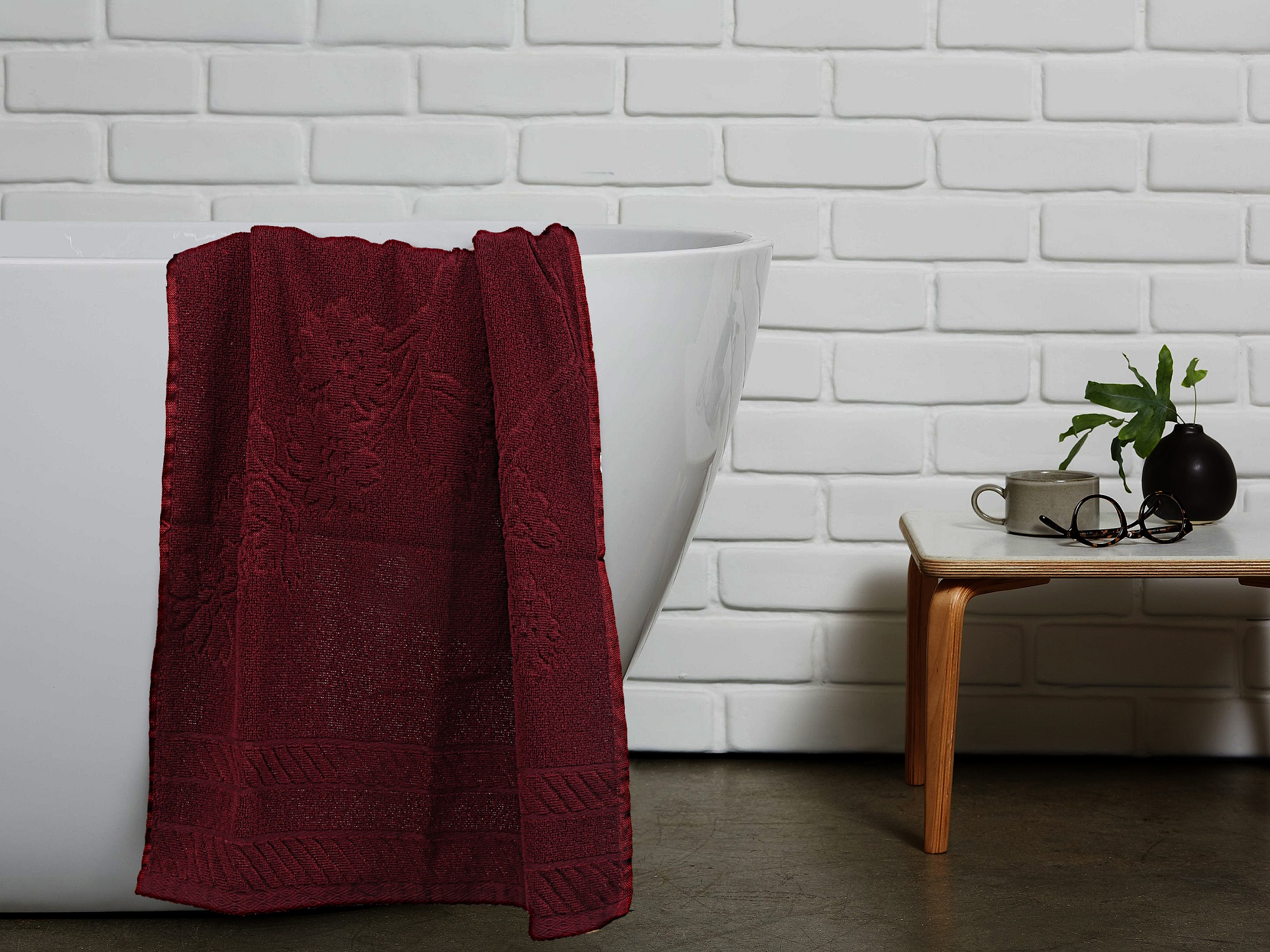"Kuber Industries 100 % Cotton 5 Pieces Bath Towel 27""x54"" (Maroon) -CTKTC8923"