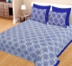 Kuber Industries 100% Cotton 144 TC Double Bed sheet with 2 Pillow Covers (Blue) -CTKTC12983