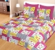 Kuber Industries 100% Cotton 144 TC Double Bed sheet with 2 Pillow Covers (Pink) -CTKTC12999
