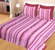 Kuber Industries 100% Cotton 144 TC Double Bed sheet with 2 Pillow Covers (Pink & Maroon) -CTKTC12995