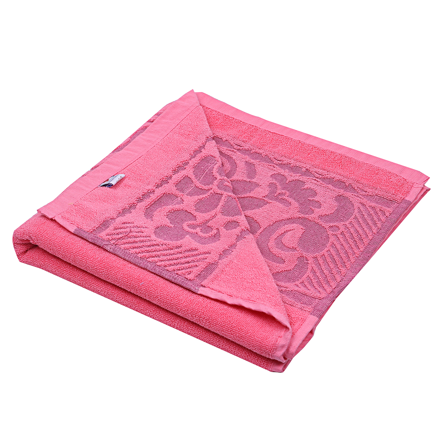 "Kuber Industries 100% Cotton 5 Pieces Full Size Bath Towel 30""x60"" (Pink)"