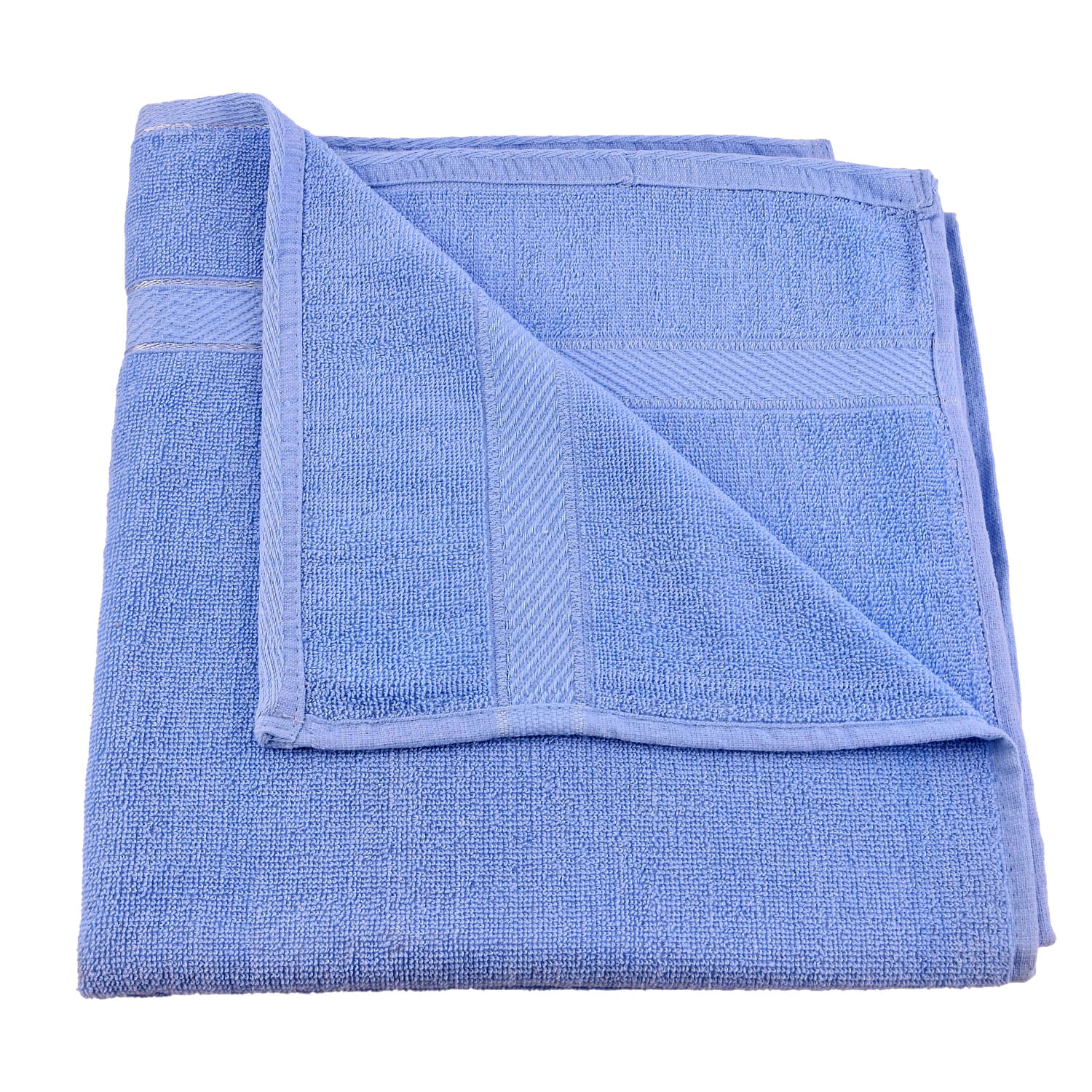 "Kuber Industries 100 Percent Cotton 3 Pieces Full Size Bath Towel 30""x60"" (Blue)"