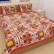 Kuber Industries™ 144 TC Cotton Double Bedsheet with 2 Pillow Covers -Red (BSN01)