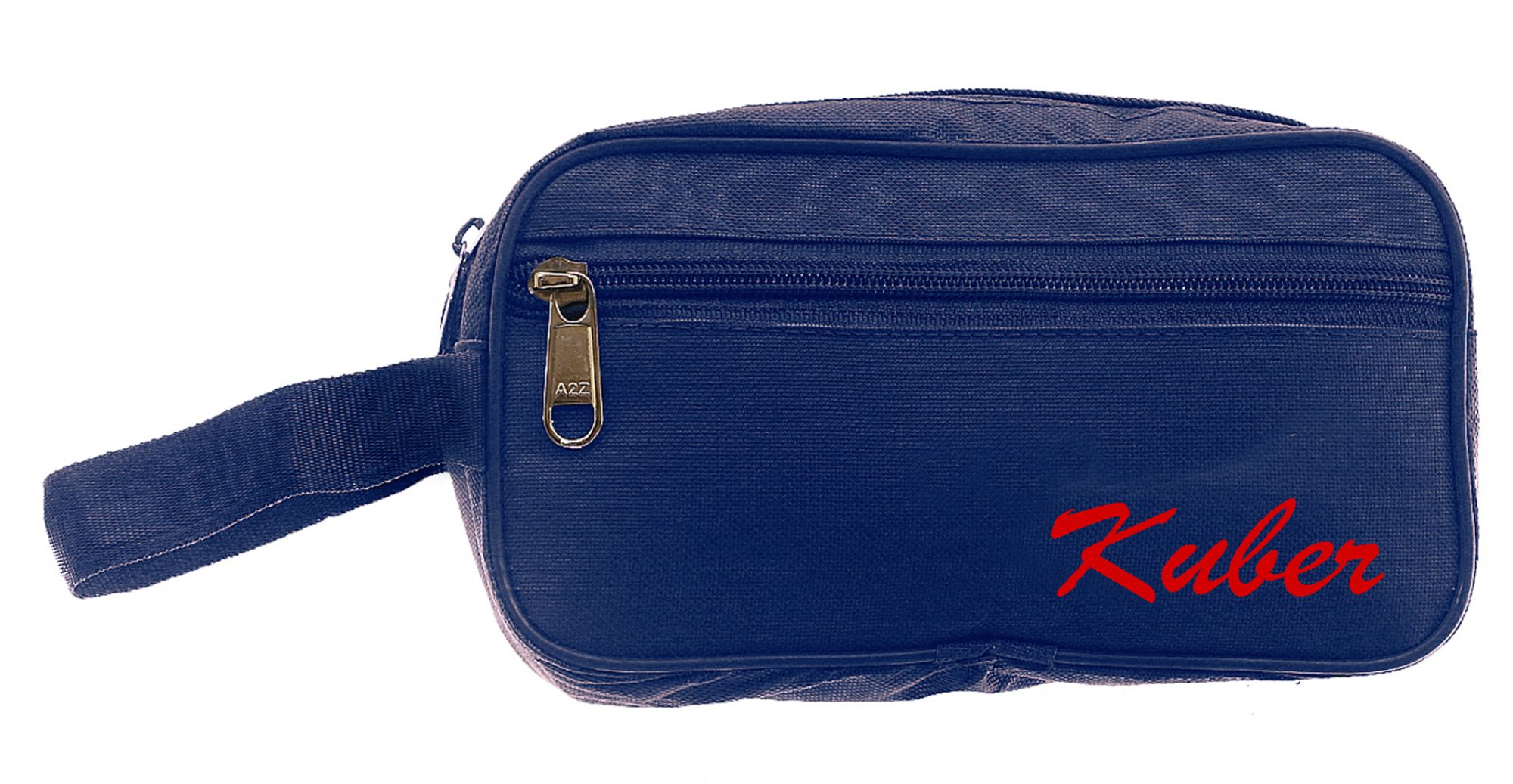 Kuber Industries 2 Pieces Multipurpose Canvas Toiletry Travel Shaving Kit,(Navy Blue & Brown) - CTKTC31471