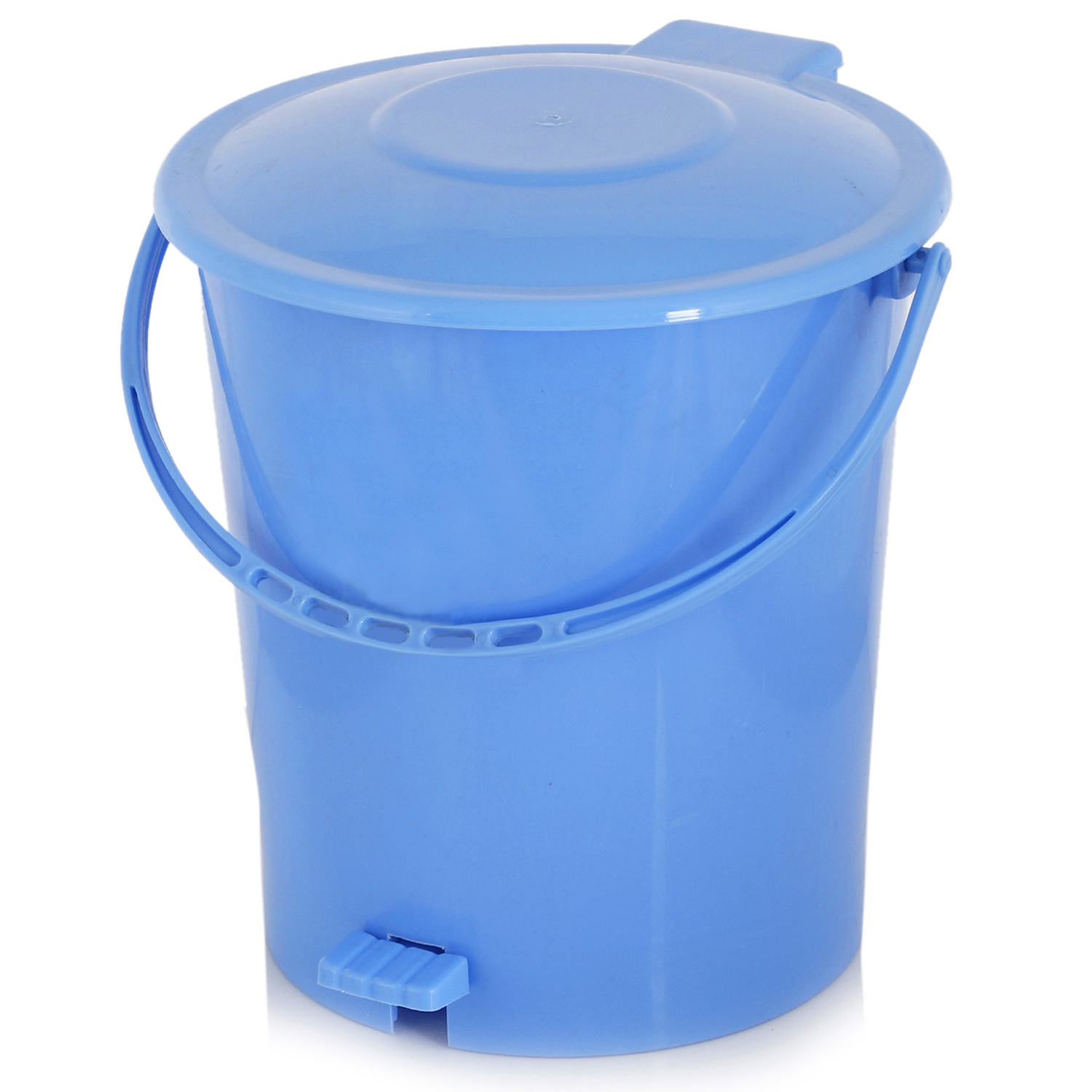Kuber Industries 2 Pieces Plastic Dustbin Garbage Bin with Handle, 10 Liters (Blue) - CTKTC34632