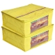 Kuber Industries 2 Pieces Raw Silk Saree Cover Wardrobe Organizer (Yellow)-CTKTC2836