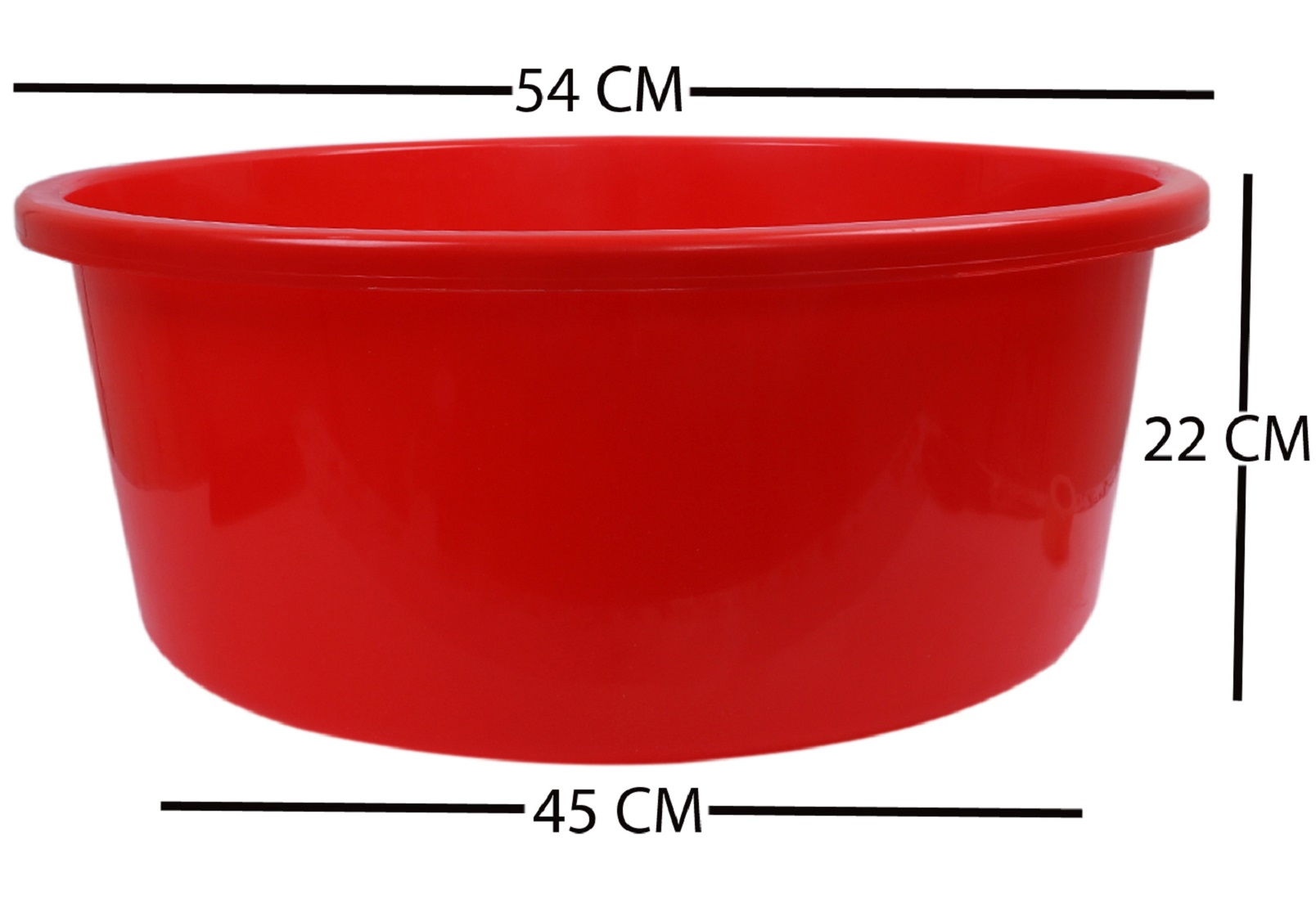 Kuber Industries 2 Pieces Unbreakable Multipurpose Bath Tub 40 Ltr (Red) -CTLTC10955