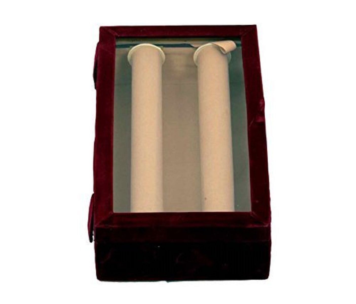 Kuber Industries 2 Rods Transparent Bangle Organizer Box Velvet Coated Set of 2 Pcs (Maroon) (Code-COM007)