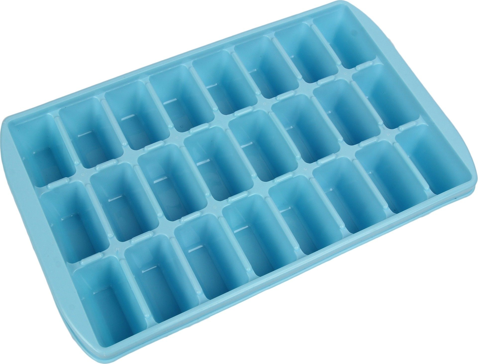 Kuber Industries™ 24 Cubes Plastic Unbreakable Ice Tray for Fridge (30*19*5 Cm) Set of 1 Pc Assorted Color (Icet01)