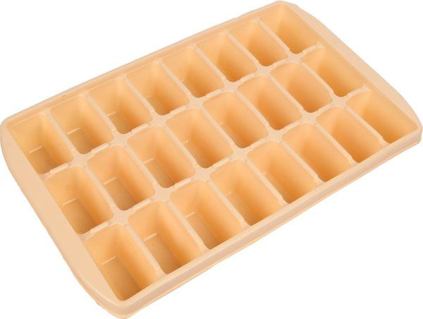 Kuber Industries™ 24 Cubes Plastic Unbreakable Ice Tray for Fridge (30*19*5 Cm) Set of 1 Pc Assorted Color (Icet02)