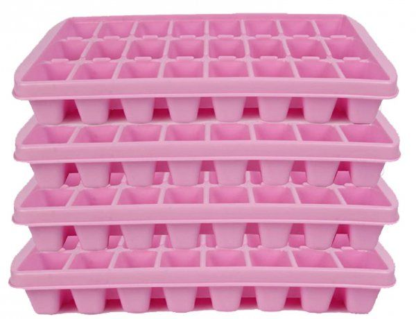 Kuber Industries™ 24 Cubes Plastic Unbreakable Ice Tray for Fridge (30*19*5 Cm) Set of 4 Pcs Assorted Color (Icet17)