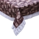 "Kuber Industries 3D Checkered Design PVC 6 Seater Dining Table Cover 60""x90"" (Brown) - CTKTC40120"